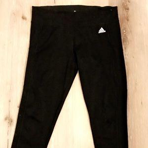 NWOT: Women's Black Adidas Capri Yoga Pants